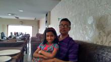 With Mahima on the way to Amritsar