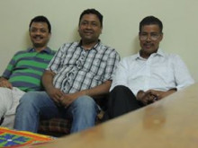 with Sanjib Kakaty & Rupam Bora